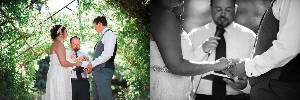 wedding in longmont rose garden