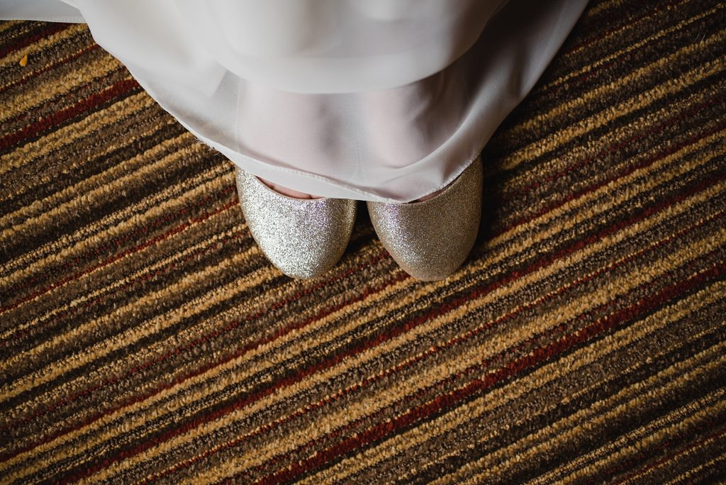 shoes on hotel carpet