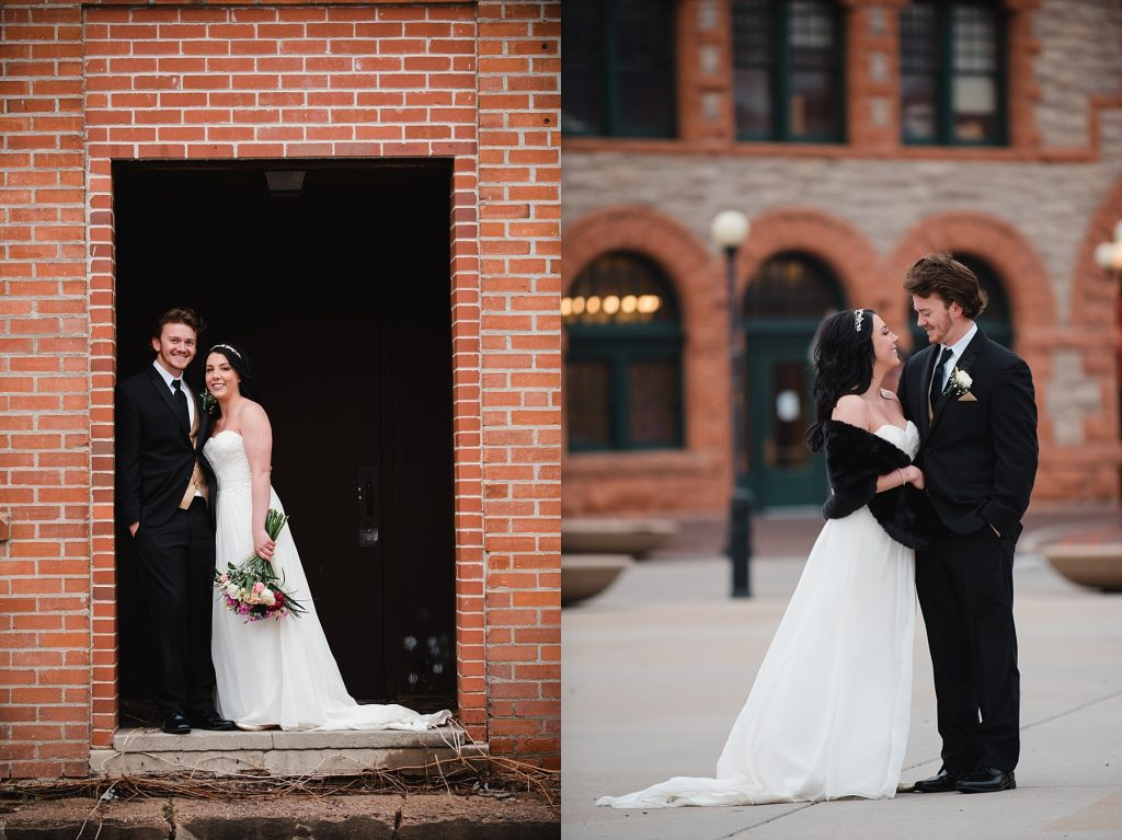 bride and groom near cheyenne depot