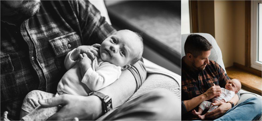 Dad and newborn photography in Cheyenne Wyoming