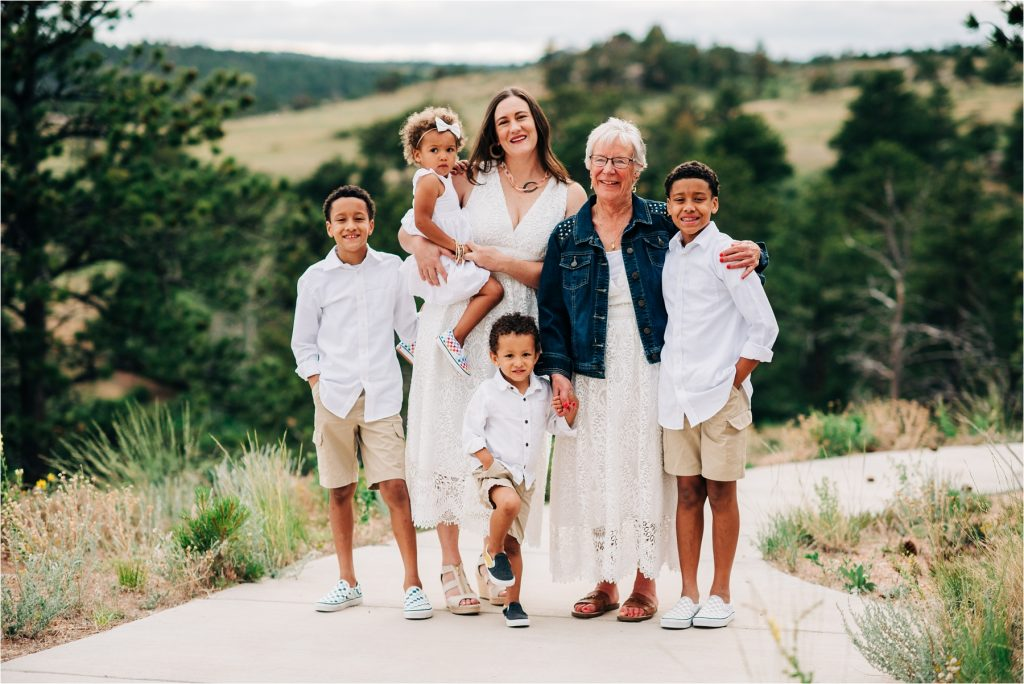 Family photos at Curt Gowdy State Park.